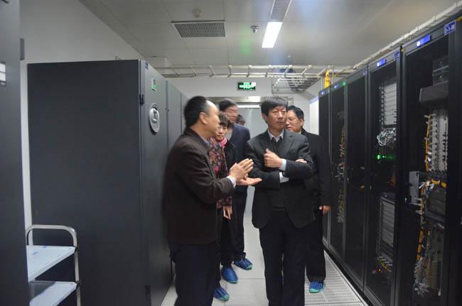 河北省商务厅、石家庄市领导齐聚物联网大厦金石机房商务云数据中心