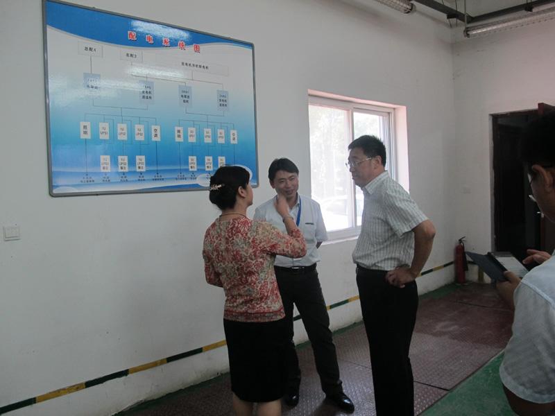 石家庄市工信局徐建民调研员一行参观金石机房互联网数据中心