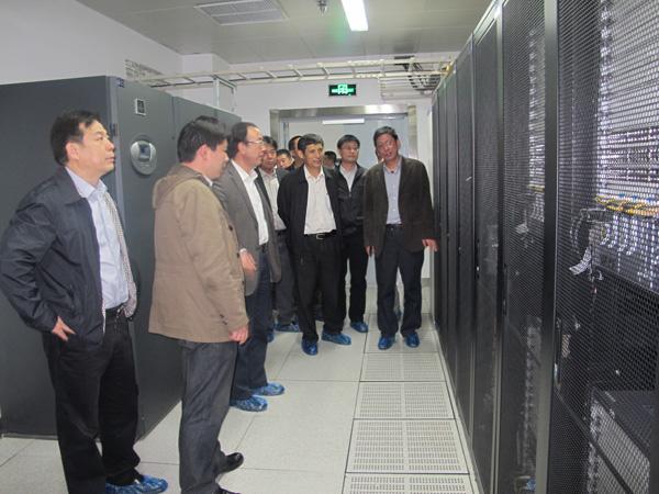河北省联通领导参观金石机房